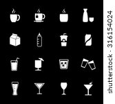 drink icons. beverage icons.... | Shutterstock .eps vector #316154024