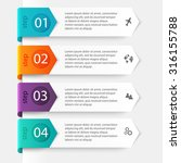 vector colorful info graphics... | Shutterstock .eps vector #316155788