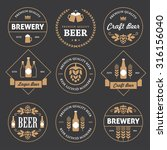 set of round and rhombus beer... | Shutterstock .eps vector #316156040