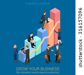 growing business infographics... | Shutterstock .eps vector #316157096