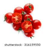 Cherry Tomatoes Isolated On...
