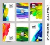 acrylic paint texture vertical... | Shutterstock .eps vector #316159874
