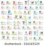 mega set of geomeric company...   Shutterstock .eps vector #316165124