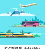 travel to different transport.... | Shutterstock .eps vector #316165313