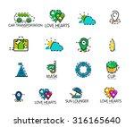set of abstract travel logo... | Shutterstock .eps vector #316165640
