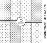 seamless pattern. set of eight... | Shutterstock .eps vector #316165778