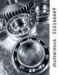 ball bearings and gears ... | Shutterstock . vector #316166669