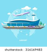 international airport. flat... | Shutterstock .eps vector #316169483