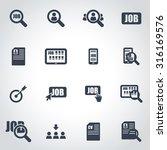 vector black job search icon... | Shutterstock .eps vector #316169576