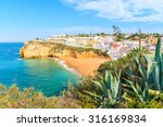 a view of carvoeiro fishing... | Shutterstock . vector #316169834