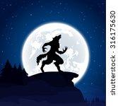 halloween night background with ... | Shutterstock .eps vector #316175630