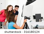 group of young photographer... | Shutterstock . vector #316180124