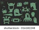 halloween cartoon green...   Shutterstock .eps vector #316182248