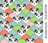 cute panda seamless pattern | Shutterstock .eps vector #316183748