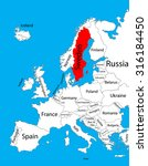 sweden vector map  europe ... | Shutterstock .eps vector #316184450