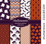 happy halloween  set of... | Shutterstock .eps vector #316185104