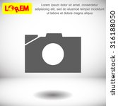 photo camera. icon. vector eps... | Shutterstock .eps vector #316188050