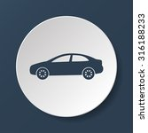 car icon. flat design style eps ... | Shutterstock .eps vector #316188233