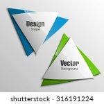 triangular shape. origami paper ... | Shutterstock .eps vector #316191224
