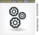 cogwheel vector icon 10 eps