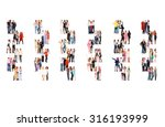 many colleagues people... | Shutterstock . vector #316193999
