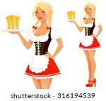 cute cartoon oktoberfest girl | Shutterstock .eps vector #316194539