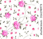 fabric pattern. seamless floral ... | Shutterstock .eps vector #316198973