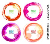 Vector Set Of Round Colorful...