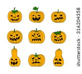 colorful vector set of funny... | Shutterstock .eps vector #316204358