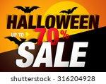 halloween sale typography paper ... | Shutterstock .eps vector #316204928