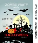 halloween party with cat... | Shutterstock .eps vector #316207460
