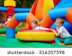 excited kids having fun on... | Shutterstock . vector #316207598