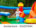 happy excited boy having fun on ... | Shutterstock . vector #316207604