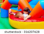 excited kids having fun on... | Shutterstock . vector #316207628