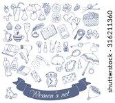 set  for a woman  the little...   Shutterstock .eps vector #316211360