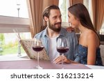 attractive loving couple is... | Shutterstock . vector #316213214