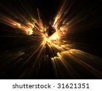 Fractal Illustration Of Fire O...