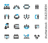 meeting icons vector | Shutterstock .eps vector #316215854