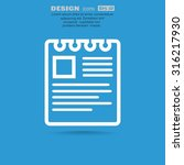 note on paper web icon. vector... | Shutterstock .eps vector #316217930