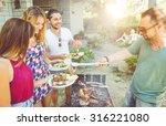 group of friends making... | Shutterstock . vector #316221080