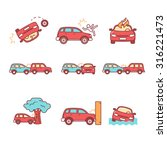 car crash and accidents. thin... | Shutterstock .eps vector #316221473