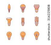 light bulb icons thin line set. ...   Shutterstock .eps vector #316225808