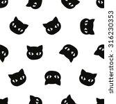 seamless pattern  cat art... | Shutterstock .eps vector #316230353