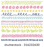 set of colorful hand drawn... | Shutterstock .eps vector #316232630