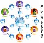 wireless internet child network ... | Shutterstock .eps vector #31623328
