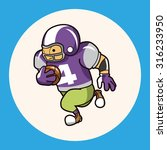football player theme elements...   Shutterstock .eps vector #316233950