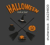 halloween icon set vector | Shutterstock .eps vector #316234820