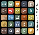 fitness flat icons with long... | Shutterstock .eps vector #316235276