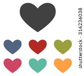 heart sign | Shutterstock .eps vector #316236038