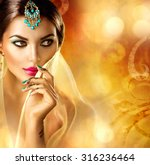 beautiful arabic girl portrait. ...   Shutterstock . vector #316236464